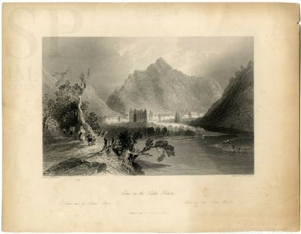 1849 Antique Print BAD EMS Lahn River GERMANY Rheinland Pfalz Deutschland